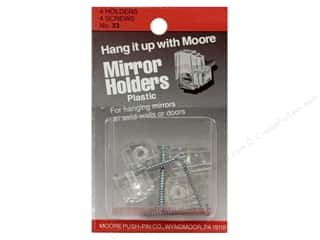 Moore: Moore Mirror Hangers Clip & Screw 4 pc Plastic