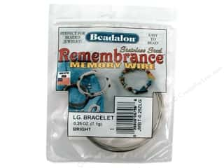 beading & jewelry making supplies: Beadalon Remembrance Memory Wire Large Bracelet .25 oz. Bright