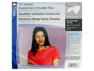 Covered Set-In Shoulder Pads by Dritz White