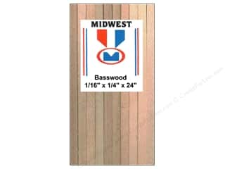 craft & hobbies: Midwest Basswood Strip 1/16 x 1/4 x 24 in. (42 pieces)