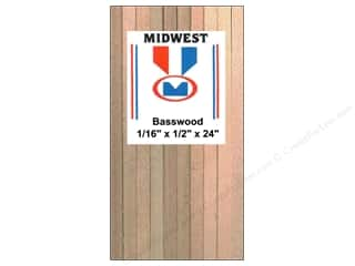 craft & hobbies: Midwest Basswood Strip 1/16 x 1/2 x 24 in. (24 pieces)