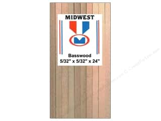 kids crafts: Midwest Basswood Strip 5/32 x 5/32 x 24 in. (36 pieces)