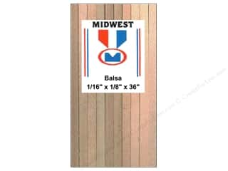 Midwest Balsa Wood Strips 1/16 x 1/8 x 36 in. (57 pieces)