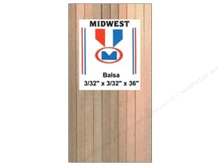 Midwest Balsa Wood Strips 3/32 x 3/32 x 36 in. (48 pieces)