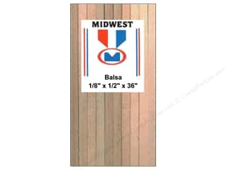 craft & hobbies: Midwest Balsa Wood Strips 1/8 x 1/2 x 36 in. (15 pieces)