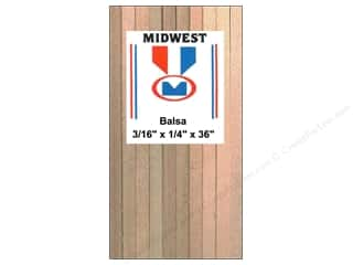 Midwest Balsa Wood Strips 3/16 x 1/4 x 36 in.