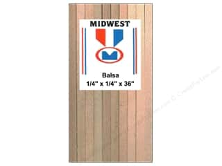 craft & hobbies: Midwest Balsa Wood Strips 1/4 x 1/4 x 36 in. (20 pieces)