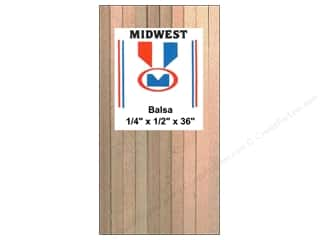 craft & hobbies: Midwest Balsa Wood Strips 1/4 x 1/2 x 36 in. (12 pieces)