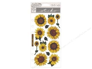 stickers: EK Sticko Stickers Vellum Sunflowers