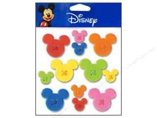 EK Disney Sticker Mickey Buttons