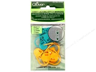 Stitch Markers: Clover Locking Stitch Markers - Jumbo 12 pc.