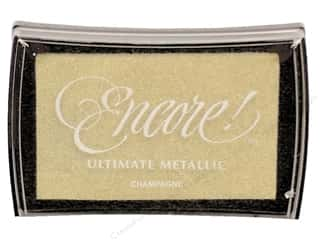 stamps: Tsukineko Encore! Ultimate Metallic Stamp Pad Champagne