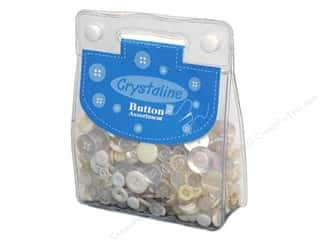 cover button: Dara Crystaline Button Assortment White