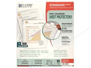 C-Line Sheet Protector 8 1/2 x11 in. Top Load Clear (50 pieces)