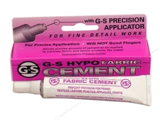 beading & jewelry making supplies: Beadalon G-S Hypo Fabric Cement 1/3 oz.