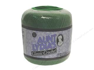 Aunt Lydia's Classic Cotton Crochet Thread Size 10 350 yd. Myrtle Green