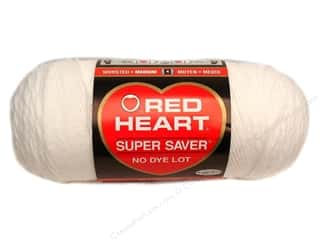 Yarn & Needlework: Red Heart Super Saver Yarn #0311 White 364 yd.