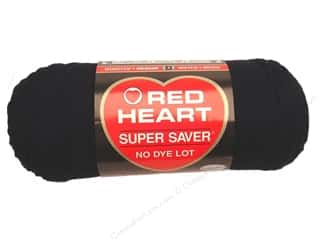 Red Heart Super Saver Yarn #0312 Black 364 yd.