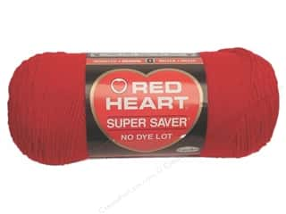 discontinued red heart yarn: Red Heart Super Saver Yarn 364 yd. Cherry Red