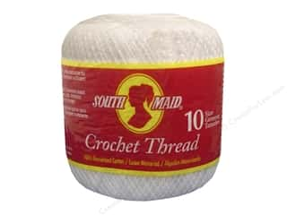yarn & needlework: South Maid Crochet Cotton Thread Size 10 #1 White
