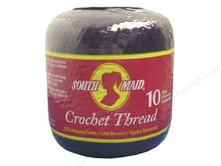 yarn & needlework: South Maid Crochet Cotton Thread Size 10 #12 Black