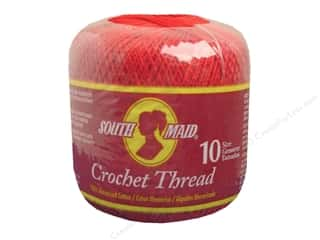 yarn & needlework: South Maid Crochet Cotton Thread Size 10 #494 Victory Red