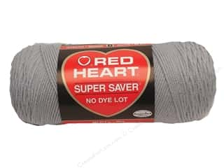acrylic knitting needle: Red Heart Super Saver Yarn #0341 Light Grey 364 yd.