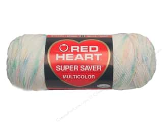 Red Heart Super Saver Yarn #0345 Baby Print 244 yd.