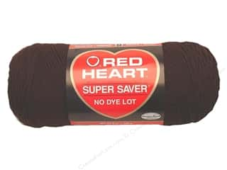 Red Heart Super Saver Yarn #0365 Coffee 364 yd.