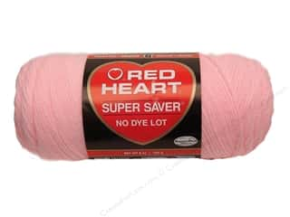 yarn & needlework: Red Heart Super Saver Yarn 364 yd. #0373 Petal Pink