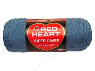 Red Heart Super Saver Yarn #0382 Country Blue 364 yd.