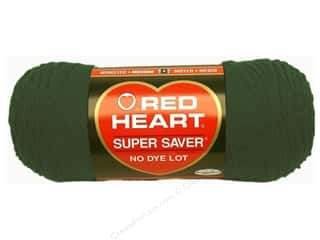 Yarn: Red Heart Super Saver Yarn 364 yd. #0389 Hunter Green