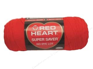 yarn & needlework: Red Heart Super Saver Yarn 364 yd. #0390 Hot Red
