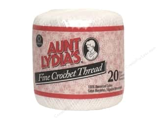 yarn & needlework: Aunt Lydia's Fine Crochet Thread Size 20 #201 White