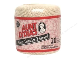 Aunt Lydia's Fine Crochet Thread Size 20 400 yd. #226 Natural