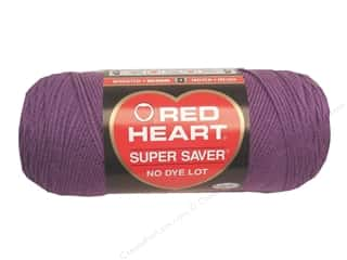 yarn & needlework: Red Heart Super Saver Yarn #0528 Medium Purple 364 yd.