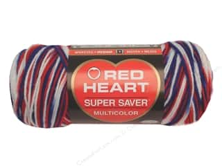 Red Heart Super Saver Yarn #0938 Stars & Stripes 244 yd.
