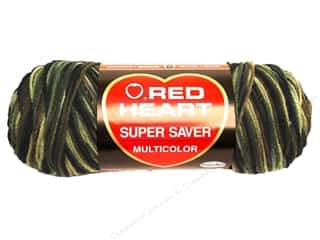 Red Heart Super Saver Yarn 236 yd. #0971 Camouflage