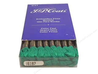 sewing & quilting: J & P Coats Six-Strand Embroidery Floss #6187 Aquamarine Very Dark (24 skeins)