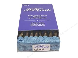 J & P Coats Six-Strand Embroidery Floss #7021 Delft (24 skeins)