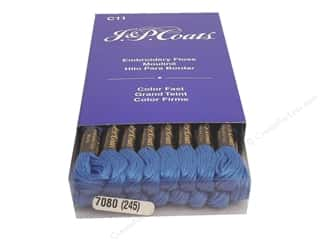 J&P Coats: J & P Coats Six-Strand Embroidery Floss #7080 Delft Dark (24 skeins)