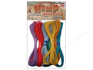 beading & jewelry making supplies: Pepperell Hemp Rainbow 10pc