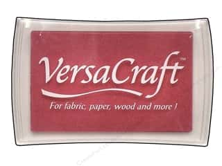 stamps: Tsukineko VersaCraft Large Craft Ink Stamp Pad Cherry Pink