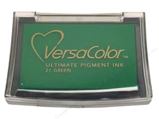 Tsukineko VersaColor Large Pigment Ink Stamp Pad Green