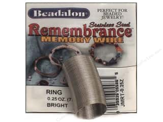 32 ga wire: Beadalon Remembrance Memory Wire Ring .25 oz. Bright