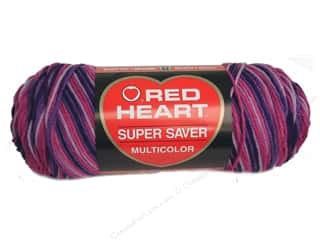 Red Heart Super Saver Yarn #0940 Plum Pudding 244 yd.
