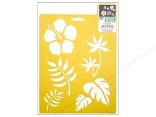 craft & hobbies: Delta Stencil Mania 7 x 10 in. Tropical Plants