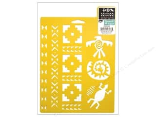 craft & hobbies: Delta Stencil Mania 7 x 10 in. Southwest