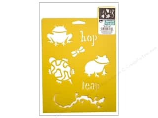 craft & hobbies: Delta Stencil Mania 7 x 10 in. Frogs & Friends