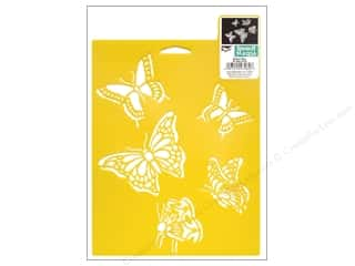 craft & hobbies: Delta Stencil Mania 7 x 10 in. Butterflies